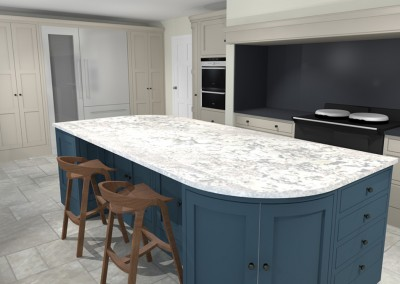 Bespoke Handpainted Kitchen - Berkshire