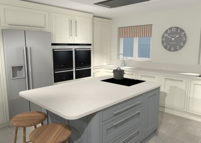 Painted Kitchen - Hampshire