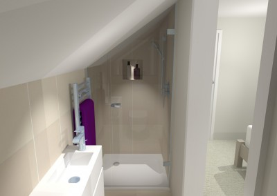 Attic en-suite shower room - Cirencester
