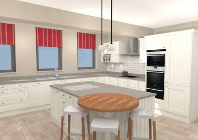 Enlarged Family Kitchen