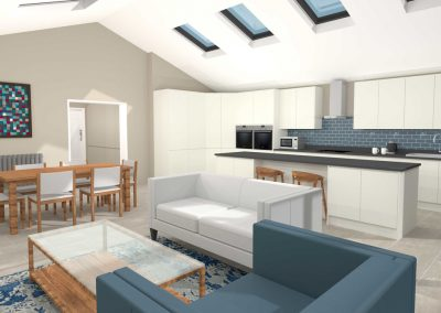 Gloucestershire Extended Kitchen, Dining and Family Room