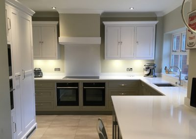 Completed Painted Bespoke Kitchen, Cheltenham