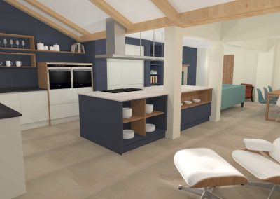 Cheltenham Contemporary Extension Painted Kitchen